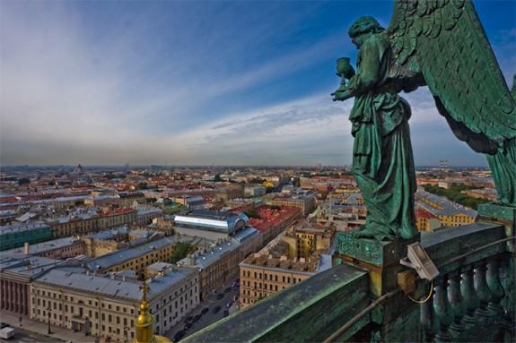 Gradovi i mesta uslikani iz vazduha Sankt-Peterburg-575x383