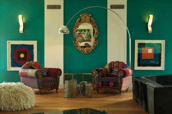 Ku ni savjeti i najbolji recepti kako dekorisati zidove u for Green feature wallpaper living room