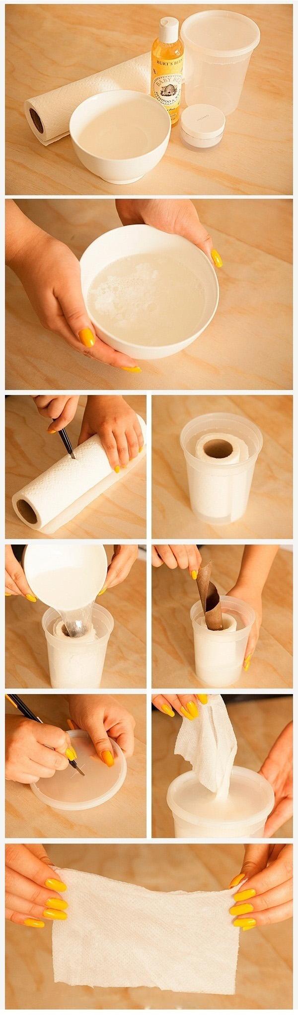 Brzo i lako: Napravite sopstvene maramice za skidanje šminke