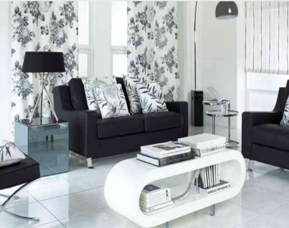 Izaberite pravu kombinaciju boja za va dom Black white gray and red living room
