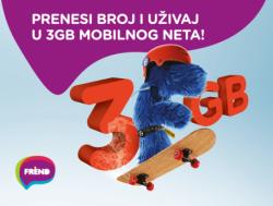 Prenesi broj u Frend: Prenesi broj i uživaj u 3GB internet paketu dobrodošlice
